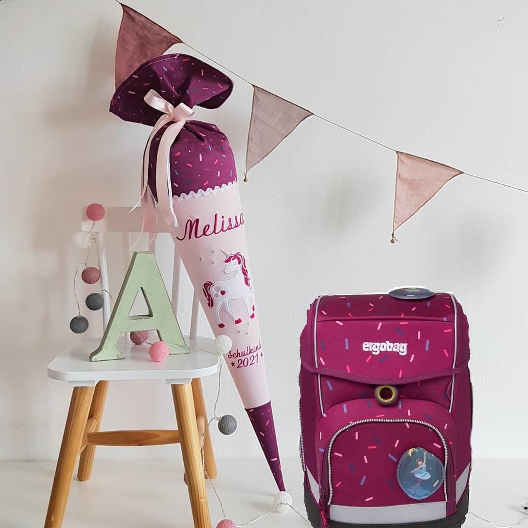 Schultüte Einhorn  passend zum Nussknackbär Design